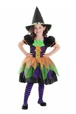 Colorful Tricky Witch Costume Girls Large 10-12 Goodmark Child Halloween New