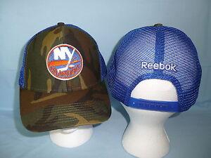 New York NY ISLANDERS Snapback Trucker Camo CAP/HAT Reebok OSFM One Size NWT $25