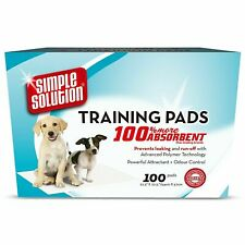 Simple Solution Dog and Puppy Training Pads Pack of 100 premium super absorbant
