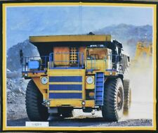 Patchwork Quilting Sewing Fabric MINING HAULAGE TRUCK Panel 90x110cm New