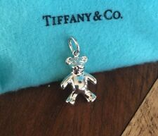 Authentic Tiffany & Co Sterling Silver 3D Solid teddy bear charm- Excellent
