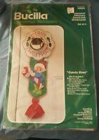 Bucilla Candy Elves Stitchery Kit 48804 Christmas Heirloom Doorknob Ornaments