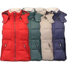 Ladies Vintage Boutique Gilet Womens Padded Hooded Jacket Faux Fur Bodywarmer