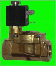 """valvola magnetica 1/2 """" OTTONE 230V 50Hz 15BAR NC OLAB acqua potabile DVGW"""