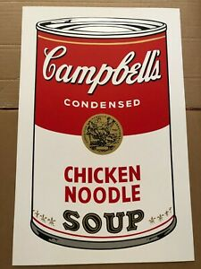 """Andy Warhol (After)""""Campbell's Can"""" Chicken Noodle; Sunday B Morning Screenprint"""