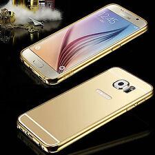 Aluminum Metal Bumper Mirror Hard Back Case Cover for Samsung Galaxy Phones