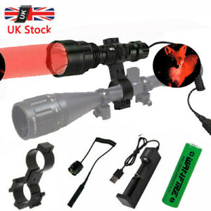 8000LM lamp scope mount gun light lamping hunting air rifle torch + Batteries UK