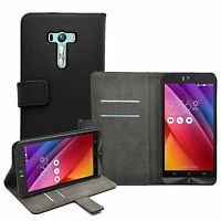 Wallet Leather Flip Case Cover Pouch Saver For Asus Zenfone Selfie (ZD551KL)