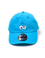 SESAME STREET COOKIE MONSTER EYES BLUE STRAPBACK BASEBALL CAP 'DAD HAT'