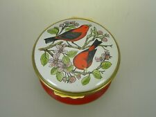 Halcyon Days Enamel Box Red Birds