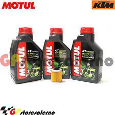 TAGLIANDO OLIO + FILTRO MOTUL 5100 15W50 KTM 660 RALLY E FACTORY REPLICA 2006