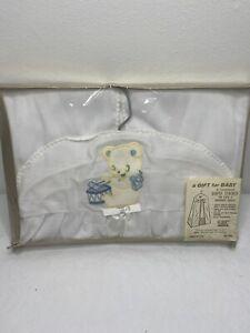 Vintage Nursery Diaper Stacker Holder Laundry Organize Bag Hanging Teddy Bear