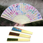 New Wood Hand Fan Lace Surface Chinese Folding Flower Party Gift Hand Fans Gift