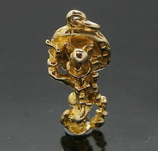 9Carat Yellow Gold Bird in Sombrero Charm (9x17mm)