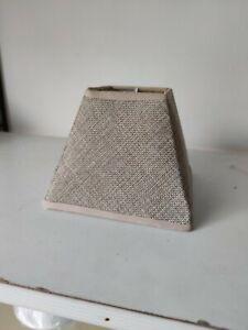 Paralume paraluce coprilampada quadrato beige 15cm