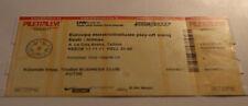 Ticket for collectors EURO q * Estonia Republic Ireland 2011 in Tallinn