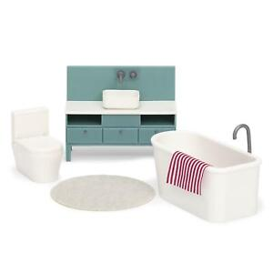 Lundby Basic Sink Unit Bath Toilet Modern Dolls House Bathroom Furniture Set