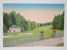 François LEDAN dit FANCH- Lithographie originale- La maison du golf