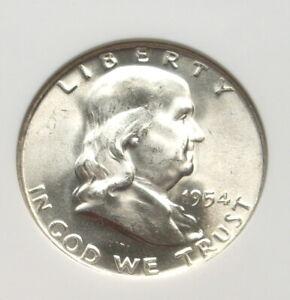 1954 D Franklin Half Dollar NGC MS 65 FBL