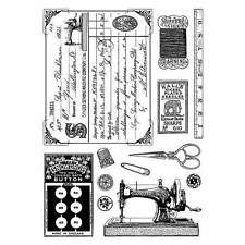 Crafty Individuals SEWING NOTIONS Unmounted Red Rubber Stamp A6 Plate