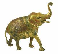 Elephant Shape Vintage Handmade Brass Statue Sculpture Idol Figure Home Decor E1