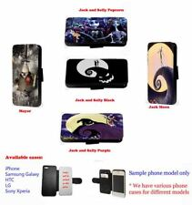 Nightmare Before Christmas Inspired leather card phone case for Iphone Xperia LG