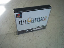 FINAL FANTASY 1X (9) PS1 Custodia PAL + Inlay solo. nessun gioco. versione black label.