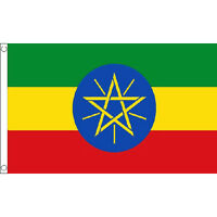 Ethiopia (With Star) Flag 5Ft X 3Ft Africa African Country Banner With 2 Eyelets