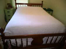 Vintage, Beautiful, White Brocade Queen Size Bedspread!