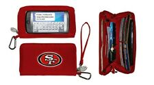 New Touch Smart phone Deluxe Wallet NFL Licensed Sf 49ers Embroidered Logo Red