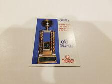 Quad City Thunder 1994/95 CBA Basketball Pocket Schedule - The Brandt Company