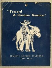 1935-1936 Advertising Calendar by The Boards of Domestic Mission Rare