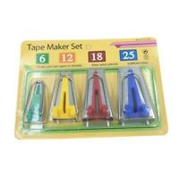 4pcs Fabric Bias Tape Maker Binding Tool Sewing Quilting Set Home Accessories