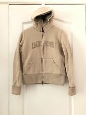 Abercrombie & Fitch Girl Hoodie Fur Brown Jacket Size Large Free Shipping 485