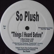"""Quindi Peluche-Le cose che ho sentito prima di ~ 12"""" SINGLE noi stampa PROMO"""