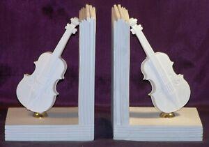 Bücherstütze Violinen Und Noten Aus Alabaster