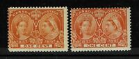 Canada SG# 122 and 123 - Mint Never Hinged - 091017