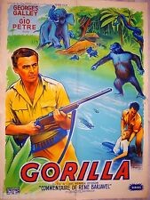 GORILLA  ! affiche cinema jungle , no tarzan 1956