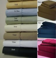 """Fitted Sheet Set 3 PCs with Extra Deep Pocket Till 30"""" Egyptian Cotton 1200 TC"""