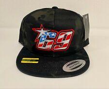 Limited Edition Nicky Hayden 69 Memorial Snapback Hat- Black Camo