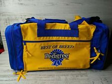 🔥 RARE Pedigree Best of Breed Dog Show Duffel Travel Bag Blue Yellow Breeder