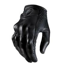 Fall proof Top Fashion Glove real Leather Full Finger Black moto men Motorcycle