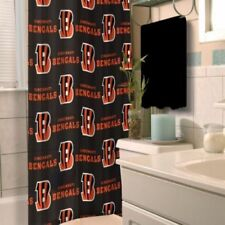 Cincinnati Bengals Fabric Shower Curtains Brand New