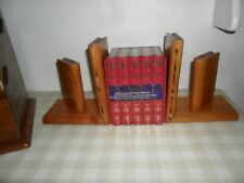 Vintage Pair Of Wooden Book Theme, Book Ends