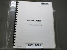 Num 720T Cnc Operator manual Ed 01-89 No 938698 Original Manual