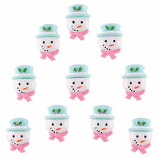 Lots 10pcs Resin Christmas snowman Flatback Hair Bow Center Scrapbooking Crafts