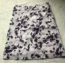 HM Size 4 Purple Floral Pencil Skirt