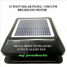 solar roof vent 12 watt solar panel / 1150 cfm / brushless motor/ extraction fan