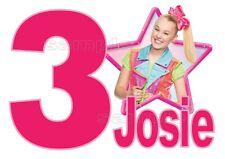 IRON ON TRANSFER / STICKER - Jojo Siwa BIRTHDAY 1ST 2ND 3RD any birthday