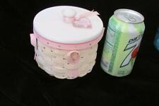 Longaberger Hope Basket/ Lid-Breast Cancer Awareness-2006-Pink Fabric Liner-